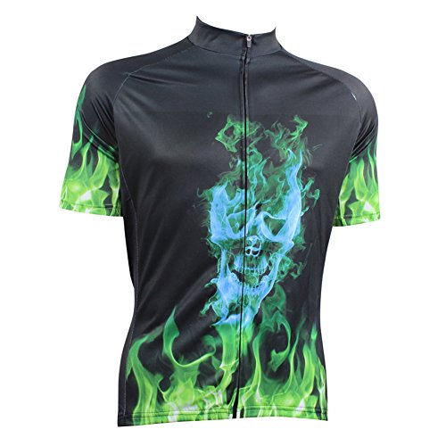 Thriller Rider Sports Donna Skull Fire Maglia Manica Corta Ciclismo Cycling Short Sleeve Jersey Medium