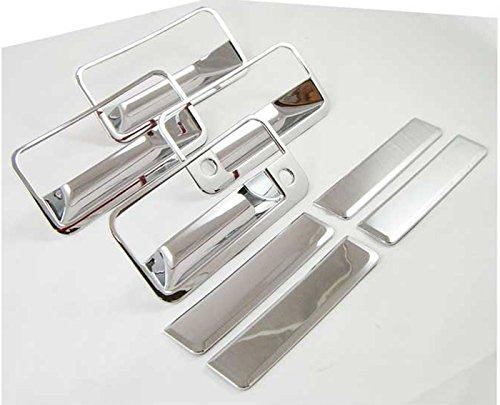 For Chevy Suburban 92-99 Chrome 4 Doors Handles Covers W// Passenger Keyhole
