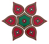 Creative Home Decor Acrylic Small Rangoli in RED (RGL-069)