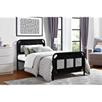 Mainstays Fairview Bed with Storage (Black Metal)