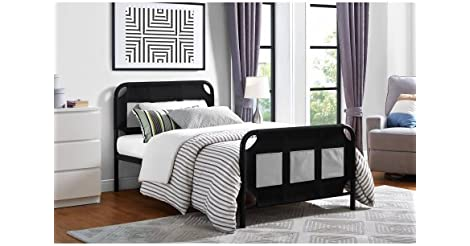 Superb Mainstays Fairview Bed with Storage Black Metal from Walmart for