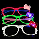 12 Pairs Of Led Hello Kitty No Lense Flashing Light Up Party Glasses