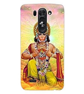 ColourCraft Lord Hanuman Design Back Case Cover for LG G3 S