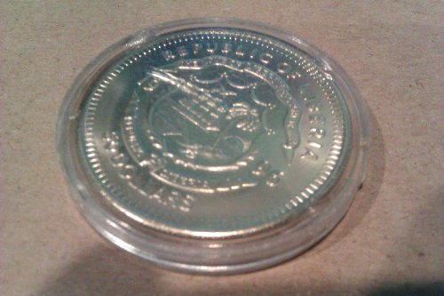 Face on Mars 1996 Republic of Liberia Commemorative Coin