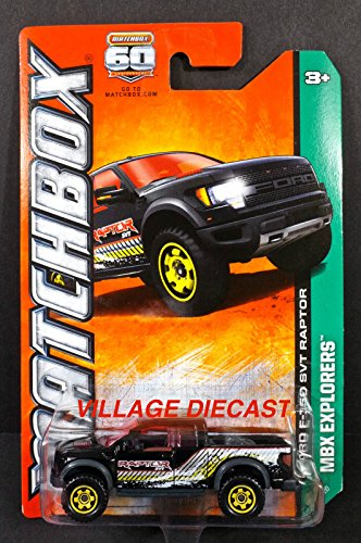 MATCHBOX FORD F-150 SVT RAPTOR BLACK TRUCK RARE 120 OF 120 MATCHBOX 60 ANNIVERSARY MBX EXPLORERS (F150 Trucks compare prices)