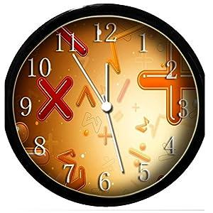 glow in the dark wall clock math