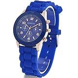 Bienna 【全14色】カジュアル ビビットカラー ゼリー レディース メンズクォーツ腕時計  シリコンバンド