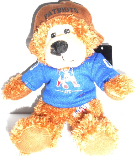51dT7qXZEYL Cheap Buy  New England Patriots Vintage 9 Fuzzy Teddy Bear In Leather Helmet