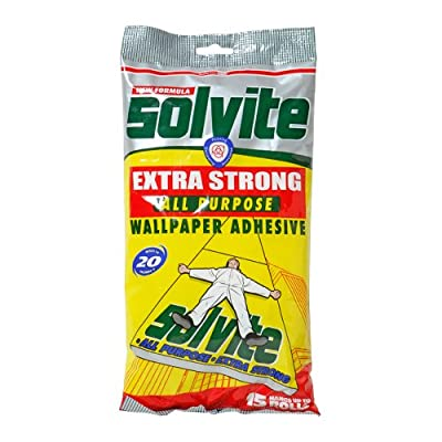 Solvite Extra Strong All Purpose Fast Mix Wallpaper Adhesive Hangs 15 Rolls by Henkel