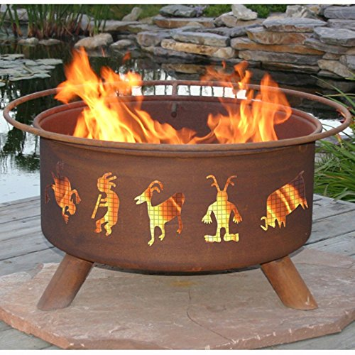 Kokopelli-Fire-Pit-with-Grill-and-FREE-Cover
