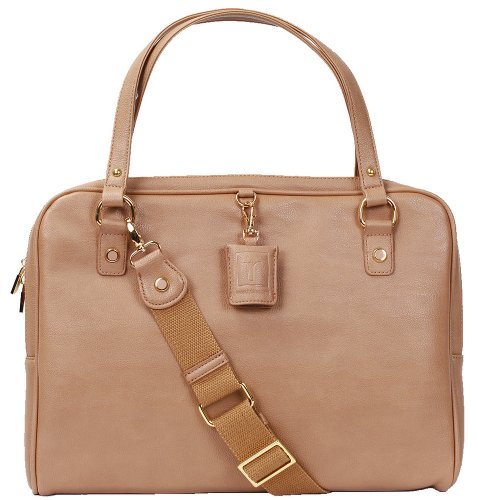 Beige Paula Pebble Laptop/iPad Bag Case By Tyla Rae