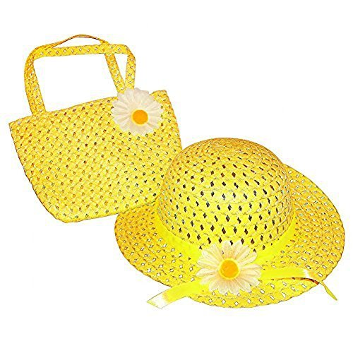 Tea Party Hat & Purse Set (More Colors...) Select Color: Yellow by Cutie Collections