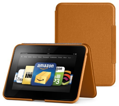 Amazon Kindle Fire HD Standing Leather Cover, Saddle Tan (will only fit Kindle Fire HD)
