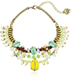 Betsey Johnson Women's Stone Frontal Boost Multi w/ Yellow Stone Necklace Mint Strand Necklace