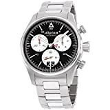Alpina Startimer Black Dial Stainless Steel Men's Watch AL372BS4S6B (Color: Black)