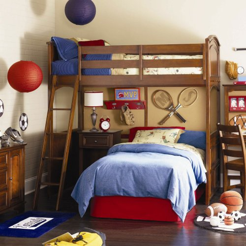 Deer Run Loft Bed with Lower Bed Frame