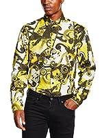 Versace Jeans Camisa Hombre (Amarillo / Blanco)