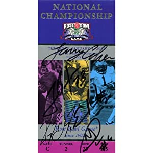 2002 Miami Hurricanes Autographed 2002 Rose Bowl Ticket - Signed College Tickets by Sports+Memorabilia