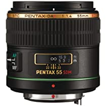 Pentax SMC DA* 55mm f/1.4 SDM Prime Standard Lens w/ Case for Pentax Digital SLR Cameras