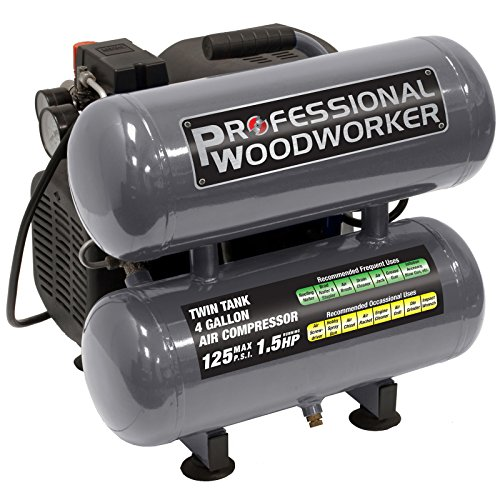 Professional Woodworker 9526 4 Gallon Twin Stack Air Compressor
