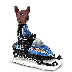 Amazon.com - Miniature Pinscher Red & Brown Snowmobile Doogie