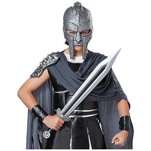 [GSG Gladiator Mask & Sword Costume Accessory Set Kids Boys Halloween] (Musketeer Sword Costume)
