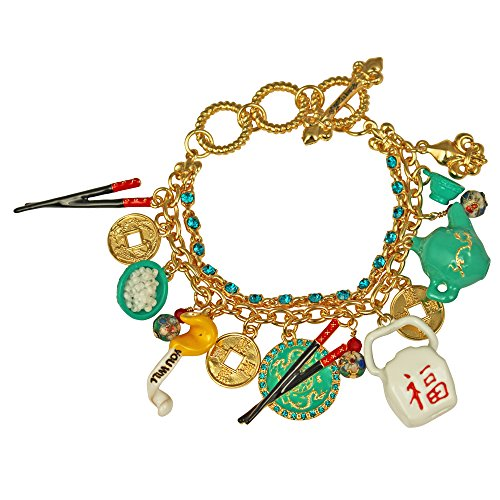 Ritzy Couture by Esme Hecht Chinese Takeout Charm Adjustable Toggle Bracelet (Goldtone)