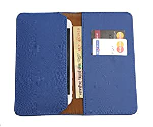 FING ™ Logo Blue Dotted Designer Wallet Pouch Mobile Cover Case with Card holder Slots for Huawei Honor 5X