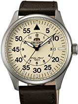 Orient 21-Jewel Automatic Aviator Flight Watch with Brown Leather Strap ER2A005Y