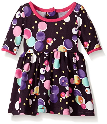 Marmellata Baby Girls' Bubbles Knit Dress, Multi, 6-9 Months