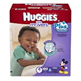 Huggies Little Movers Diapers Economy Plus, Size 4, 160 Count (packaging may vary)