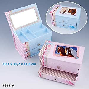 Horse Dreams Jewellery Box with Drawers - 7848 Pink/Brown