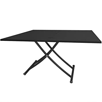 Menzzo b2219s contemporain carrera table table basse for Table basse relevable carrera