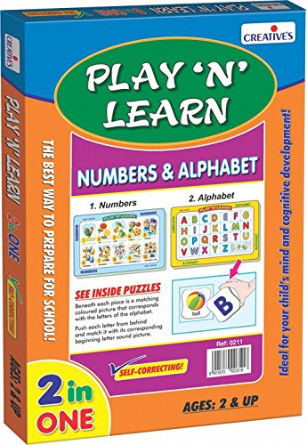 Creative Educational Aids Private Limited Creative's Play 'N' Learn Numbers and Alphabet, Multi Color