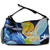 Disney Tinkerbell Black Nylon Hobo Handbag