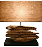 Rustique Riverine Drift Wood Table Lamp - Home Décor, Table, Accent, Reading, Task Lamp.