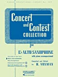 Concert and Contest Collection for Eb Alto Saxophone: With Piano Accompaniment (Rubank Educational Library)