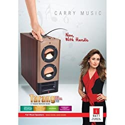 Iball Tarang Mini tower 2.1 Bluetooth Speakers with handle, Fm, USB and Remote