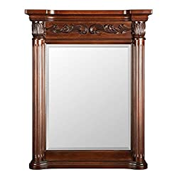 Belle Foret Estates 28 in. W x 34 in. L Wall Mirror in Rich Mahogany