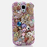 BlingAngels® 3D Luxury Swarovski Crystal Sparkle Diamond Bling carriage castles with butterfly Design Case Cover for Samsung Galaxy S4 S 4 IV i9500 fits Verizon, AT&T, T-mobile, Sprint and other Carriers (Handcrafted by BlingAngels®)