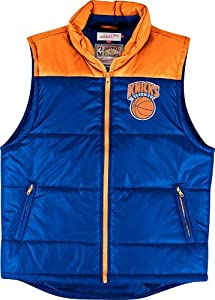 New York Knicks Mitchell & Ness NBA Winning Team Throwback Snap Vest Jacket by Mitchell & Ness