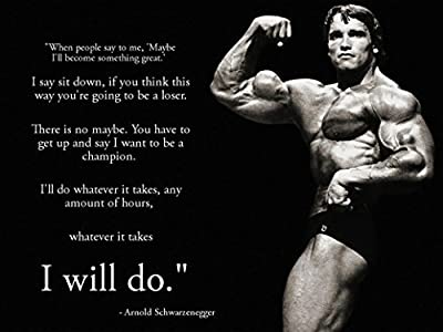 Arnold Schwarzenegger Inspiration Bodybuilding Paper poster 17 inch x 13 inch