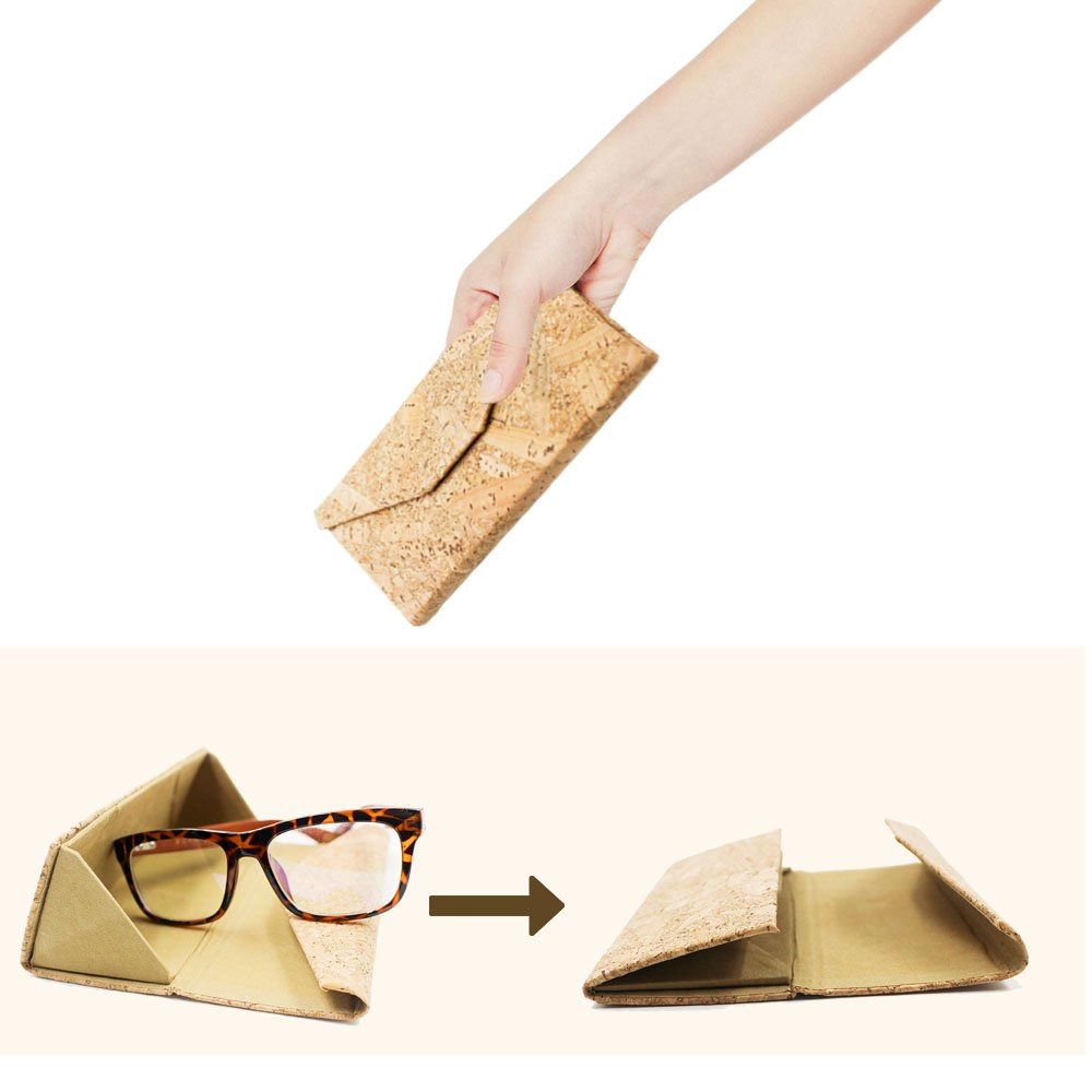 Eyeglasses Case, ASAPS Vintage Foldable Eyeglasses Case (Wood Sawdust) 2