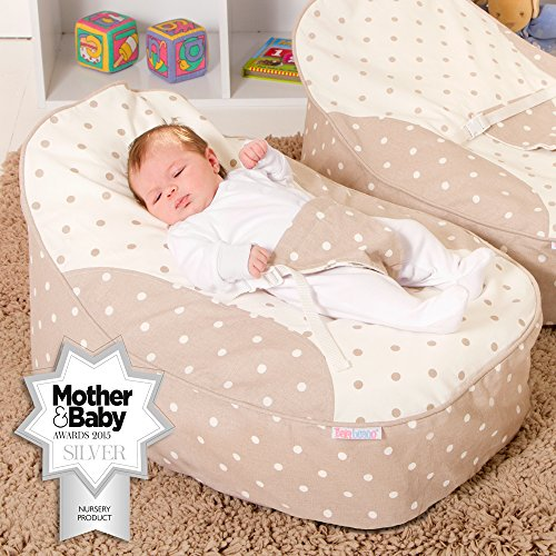 Pre-filled and ready to use This bean bag is fully over locked and double stitched for security and comfort Great for newborns and developing toddlers, our bean bag chairs help to prevent the development of a flat head and relieves acid reflux and gas.