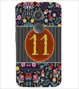 PrintDhaba Numerology Number 11 D-3098 Back Case Cover for MOTOROLA MOTO X2 (Multi-Coloured)