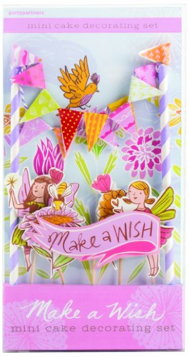 Party Partners Design Mini Cake Decor Kit, Make A Wish