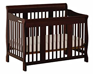 Stork Craft Tuscany 4-in-1 Stages Crib, Espresso by Stork Craft