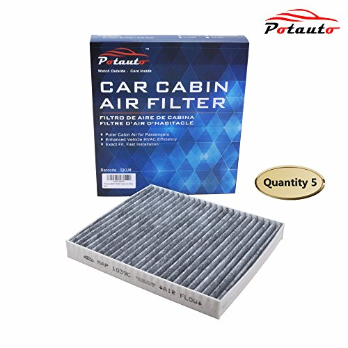 POTAUTO MAP 1039C (5-Pack) Heavy Activated Carbon Car Cabin Air Filter Replacement compatible with CHRYSLER, DODGE, JEEP