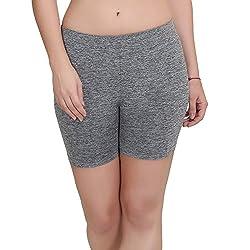 O' Womaniyah! Women's & Girls Gym Shorts _L (Stone Grey)