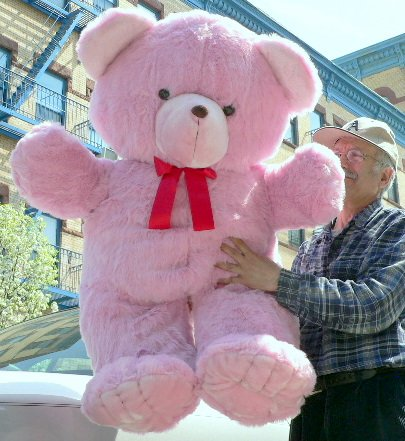 GIANT 48'' FRIENDLY TEDDY BEAR - HUGE SOFT JUMBO STUFFED PLUSH BEAR - PERFECT FOR MOTHER'S DAY MOTHERS DAY GIFT OR ANYTIME - COLOR: PINK